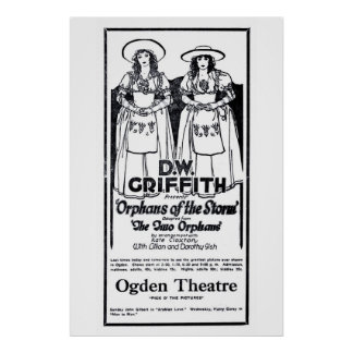 Orphans Of The Storm 1922 vintage movie ad poster