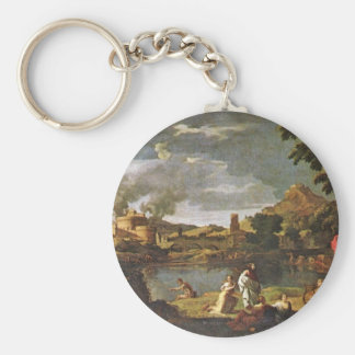Orpheus And Eurydice By Poussin Nicolas Key Ring