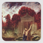 Orpheus at the Tomb of Eurydice Square Sticker