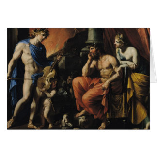 Orpheus before Pluto and Persephone Card