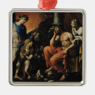 Orpheus before Pluto and Persephone Christmas Ornament