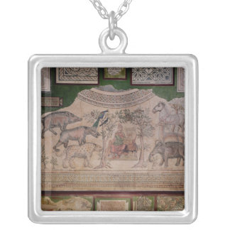 Orpheus charming the animals silver plated necklace
