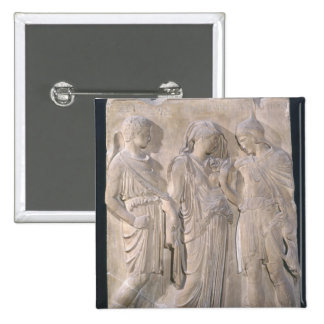 Orpheus, Eurydice and Hermes 15 Cm Square Badge