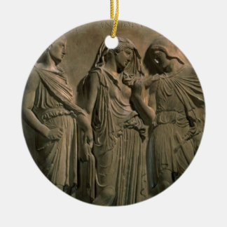 Orpheus, Eurydice and Hermes (marble) Christmas Ornament