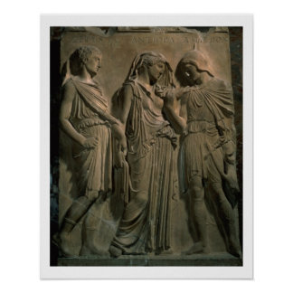 Orpheus, Eurydice and Hermes (marble) Poster