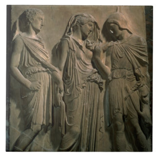 Orpheus, Eurydice and Hermes (marble) Tile