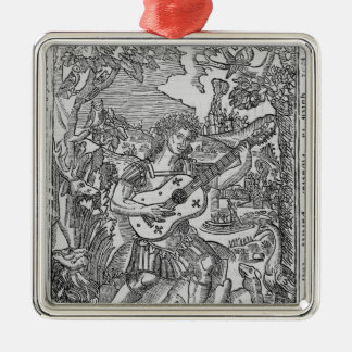 Orpheus Playing Music Christmas Ornament