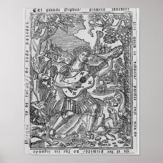 Orpheus Playing Music Poster