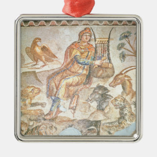 Orpheus playing to the animals, Roman mosaic Christmas Ornament