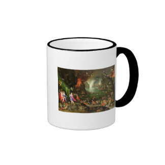 Orpheus with a Harp Playing to Pluto Ringer Mug