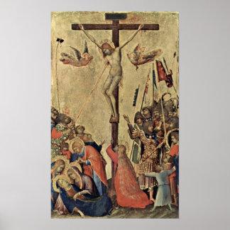 Orsini-altar scene: crucifixion by Simone Marti Posters