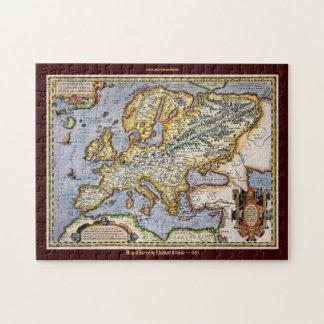 Ortelius' 1595 Map of Europe large Jigsaw Puzzle