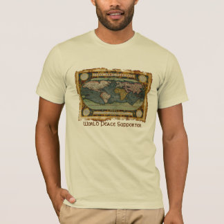 Ortelius Old World Map World Peace Supporter Tee