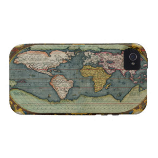 Ortelius Parchment Old World Map iPhone 4 Case