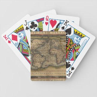 Ortelius World Map 1570 Bicycle Card Decks