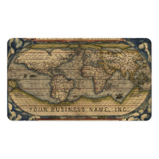 Ortelius World Map 1570 Double-Sided Standard Business Cards (Pack Of 100)