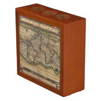 Ortelius World Map 1570 Desk Organiser