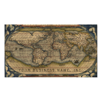 Ortelius World Map 1570 Pack Of Standard Business Cards