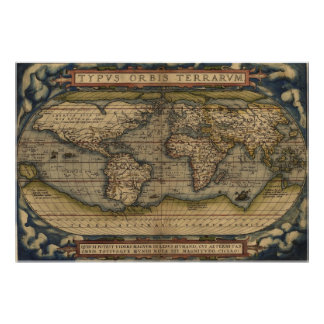 Ortelius World Map 1570 Poster