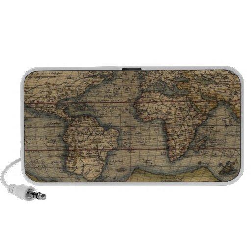Ortelius World Map 1570 Mini Speakers