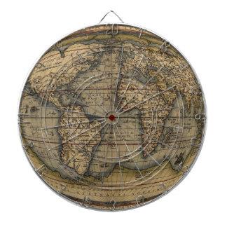 Ortelius World Map Dartboard