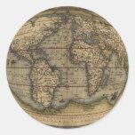 Ortelius World Map Round Sticker