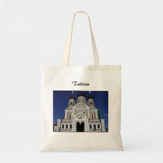 Orthdox church in Tallinn tote bag