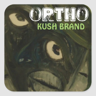 ORTHO KUSH BRAND SQUARE STICKER