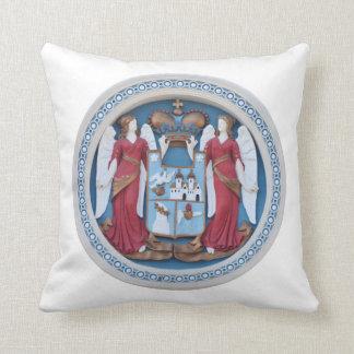 orthodox angels seal religion symbol stucco timiso cushion