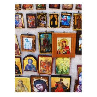 Orthodox, Christian, Icons, Byzantine, GrPostcard Postcard