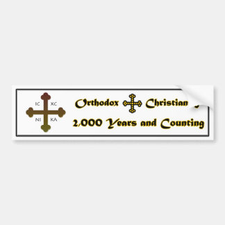 Orthodox Christianity- 2,000 Years and Counting Bumper Sticker