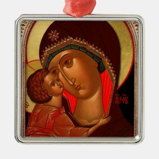 Orthodox Christmas Ornament - Novgorod Theotokos