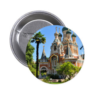 Orthodox church in Nice France 6 Cm Round Badge