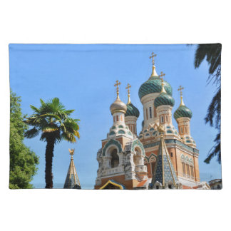 Orthodox church in Nice France Placemat