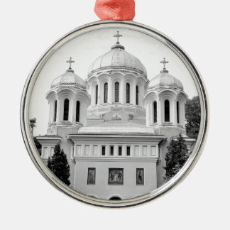 Orthodox church Silver-Colored round decoration