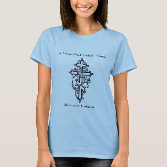 orthodox cross, St. George Greek Orthodox Churc... T-Shirt