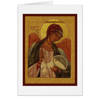 Orthodox Guardian Angel Card