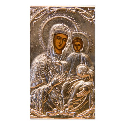 Orthodox icon business card