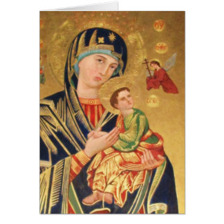 Orthodox ICON Serene Madonna Card