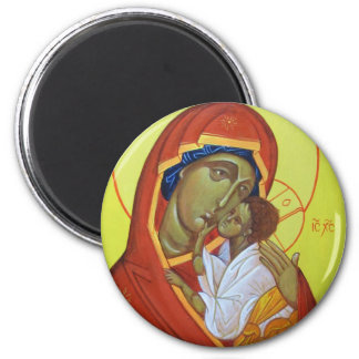 Orthodox Icon Virgin of The Sweet Kiss Magnet