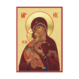 Orthodox icon - Vladimir Mother of God Gallery Wrapped Canvas