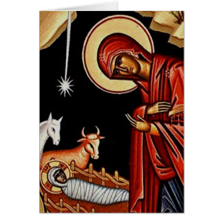 Orthodox Nativity III Greeting Card