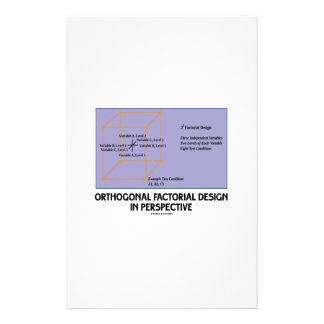 Orthogonal Factorial Design In Perspective Personalized Stationery