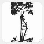Orthopaedic Crooked Tree Square Sticker
