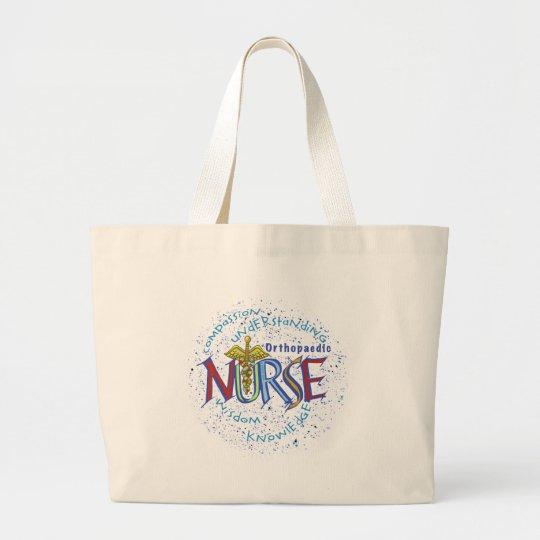 Orthopaedic Nurse Motto Large Tote Bag