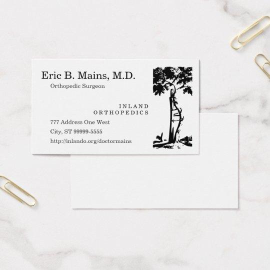 Orthopaedic Surgeon Crooked Tree Business Card