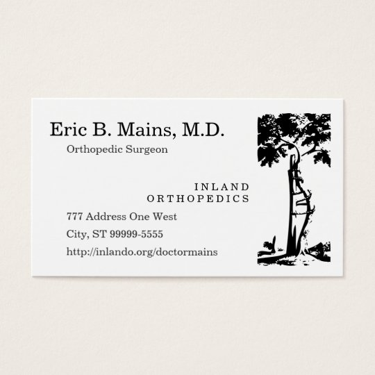 Orthopaedic Surgeon Crooked Tree Business Card