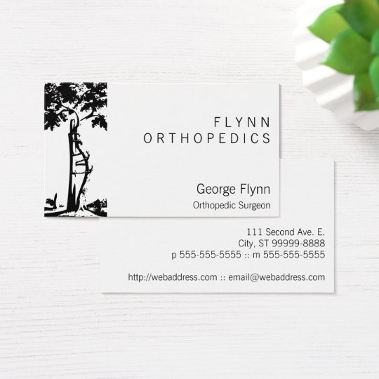 Orthopaedic Surgery Crooked Tree Business Card