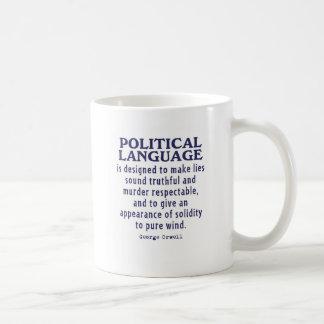 Orwell on Political Language Basic White Mug
