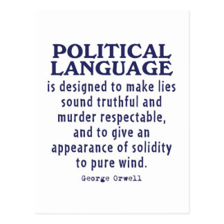 Orwell on Political Language Post Card